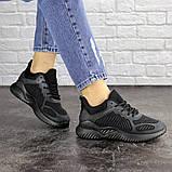 Летние кроссовки женские черные сетка, фото 5