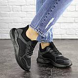 Летние кроссовки женские черные сетка, фото 6