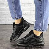Летние кроссовки женские черные сетка, фото 7