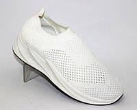 Удобные летние кроссовки из сетки для женщин белого цвета