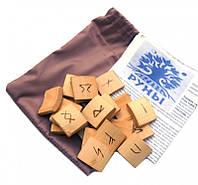 Набор деревянных рун для гадания с аннотацией Бамбук