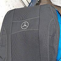 Чехлы на сиденья MERCEDES ATEGO 1+1 2005- (водитель высокая спинка; пассажир отдельный подголовник)