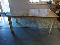 Стол металевий з мрамора