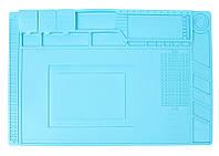 Коврик для рабочего стола (450х300) Синий, антистатический, термостойкий