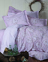 Двуспальное евро постельное белье KARACA HOME  SIENA розовый