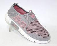 Летние кроссовки сетка для женщин серого цвета