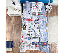 Комплект постельного белья с вафельным покрывалом 160*240 Pike TM Aran Clasy SAILIFE
