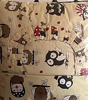 Набор детского постельного белья в кроватку Совята  (для девочек и мальчиков) 9 позиций
