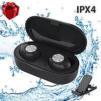 Наушники беспроводные блютуз гарнитура Bluetooth наушники 5.0 Wi-pods TW60. Черные