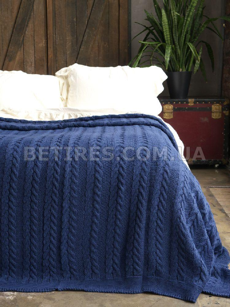 Покрывало 170x240 BREMEN NAVY BLUE синее