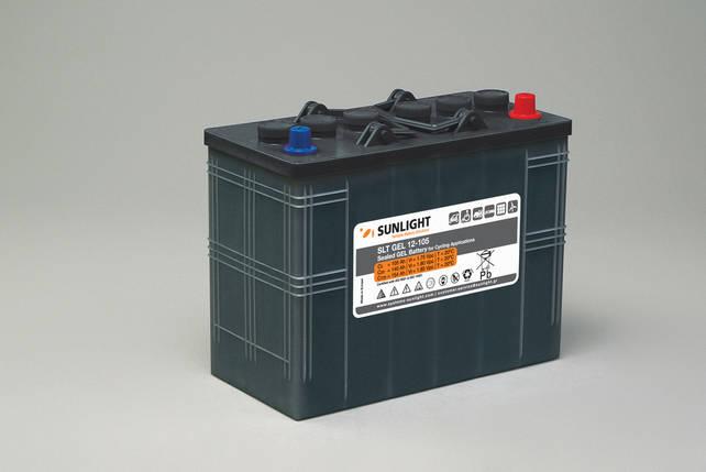Гелевый тяговый аккумулятор Sunlight SLT GEL 12-105, 12 Вольт, 105Ач, фото 2