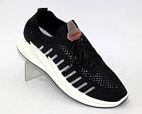 Кроссовки для женщин с сеткой черного цвета