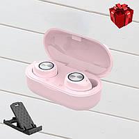 Беспроводные наушники блютуз гарнитура Bluetooth наушники 5.0 Wi-pods TW60 Pro. Розовые Оригинал
