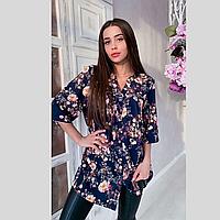 Рубашка летняя большого размера Эльза р. 48-58, фото 1