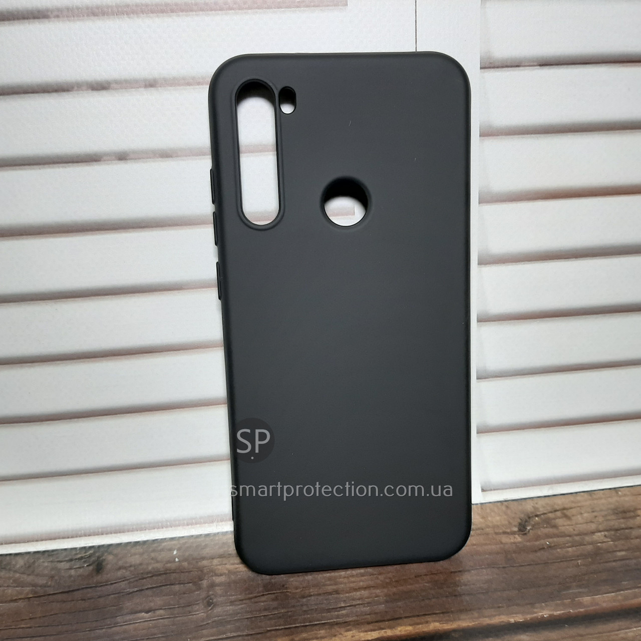 Чехол накладка для Xiaomi Redmi Note 8 черная Aspor Silicone Full