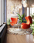 Крісло Егг (Egg), дизайнерське, екожа, метал, колір коричневий, фото 4