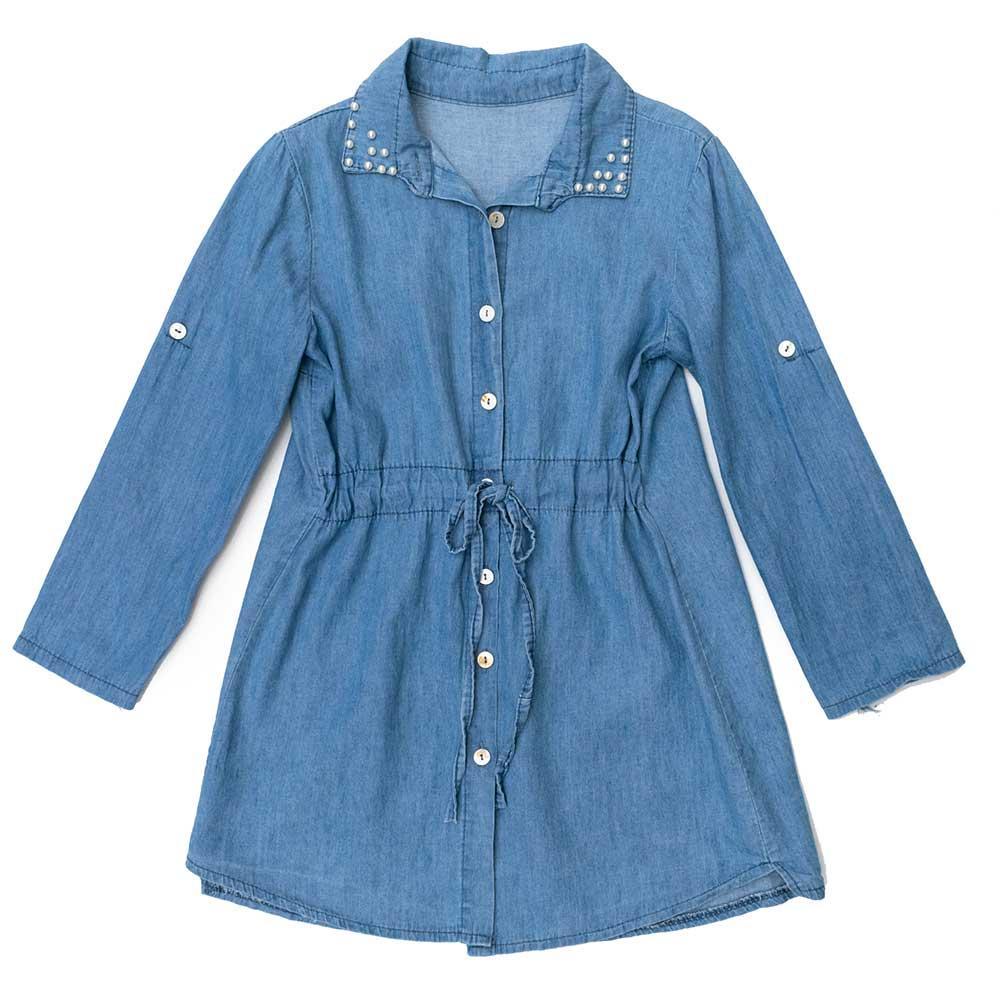Платье для девочек Kidsmod 122  голубое 980315