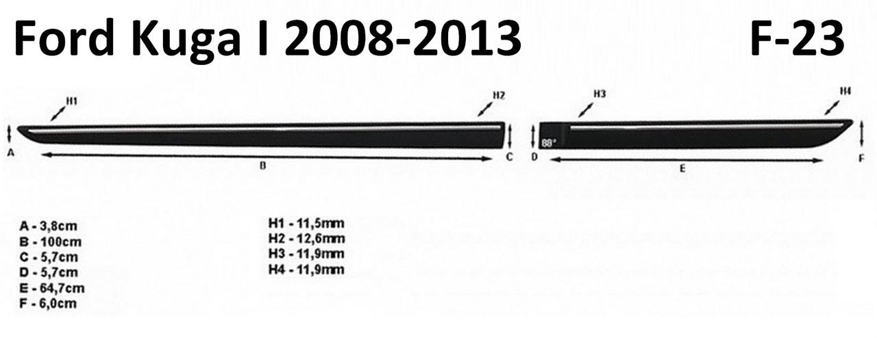 Молдинги на двері для Ford Kuga Mk1 2008-2012, фото 4
