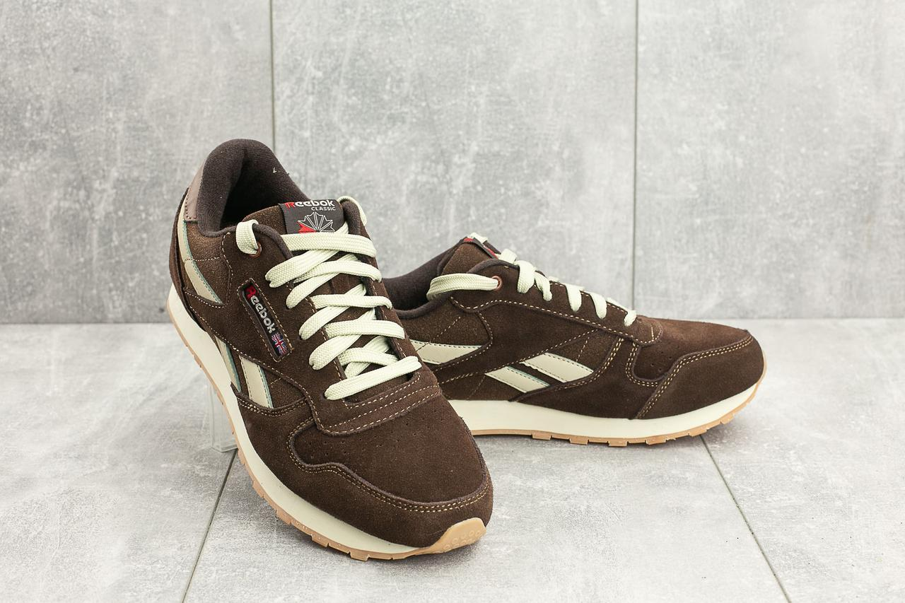 Мужские кроссовки искусственная замша весна/осень коричневые Classica G 9168 -11