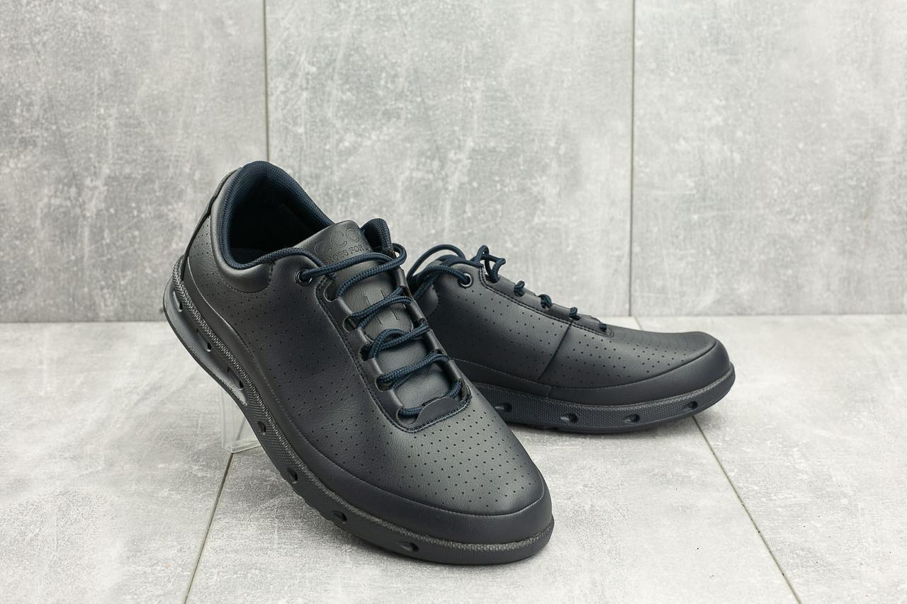 Мужские кроссовки искусственная кожа весна/осень синие Classica G 9336 -1