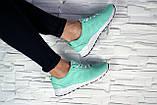Женские кроссовки кожаные весна/осень зеленые Onward 222, фото 3