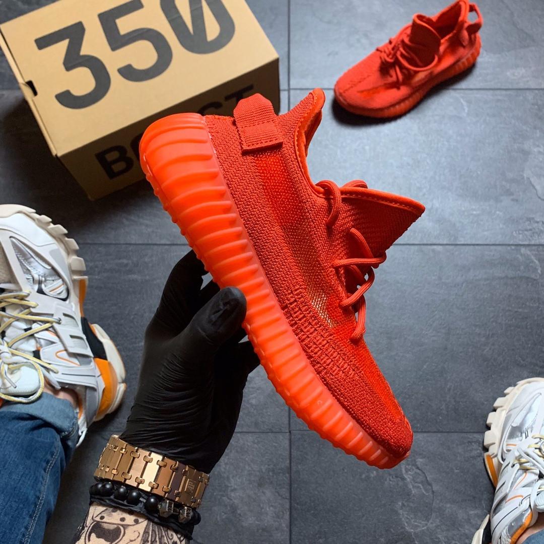 Женские Кроссовки Adidas Yeezy Boost 350 Red.
