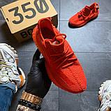 Женские Кроссовки Adidas Yeezy Boost 350 Red., фото 3