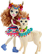 Игровой набор Enchantimals Большие друзья кукла Лама Ллуэлла и Флиси FRH42, фото 4