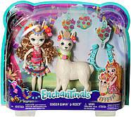 Игровой набор Enchantimals Большие друзья кукла Лама Ллуэлла и Флиси FRH42, фото 10
