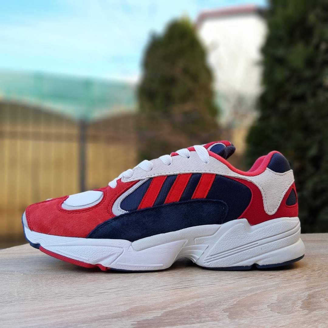 Мужские Кросcовки Adidas Yung красные с синим