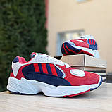 Мужские Кросcовки Adidas Yung красные с синим, фото 2