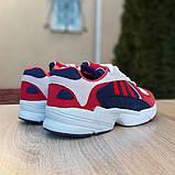 Мужские Кросcовки Adidas Yung красные с синим, фото 4