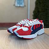 Мужские Кросcовки Adidas Yung красные с синим, фото 5