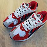 Мужские Кросcовки Adidas Yung красные с синим, фото 6