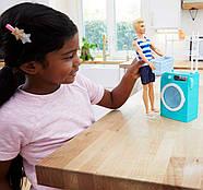 Игровой набор Barbie Комната Кена Прачечная с куклой Ken FYK52, фото 4