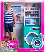 Ігровий набір Barbie Кімната Кена Пральня з лялькою Ken FYK52, фото 7