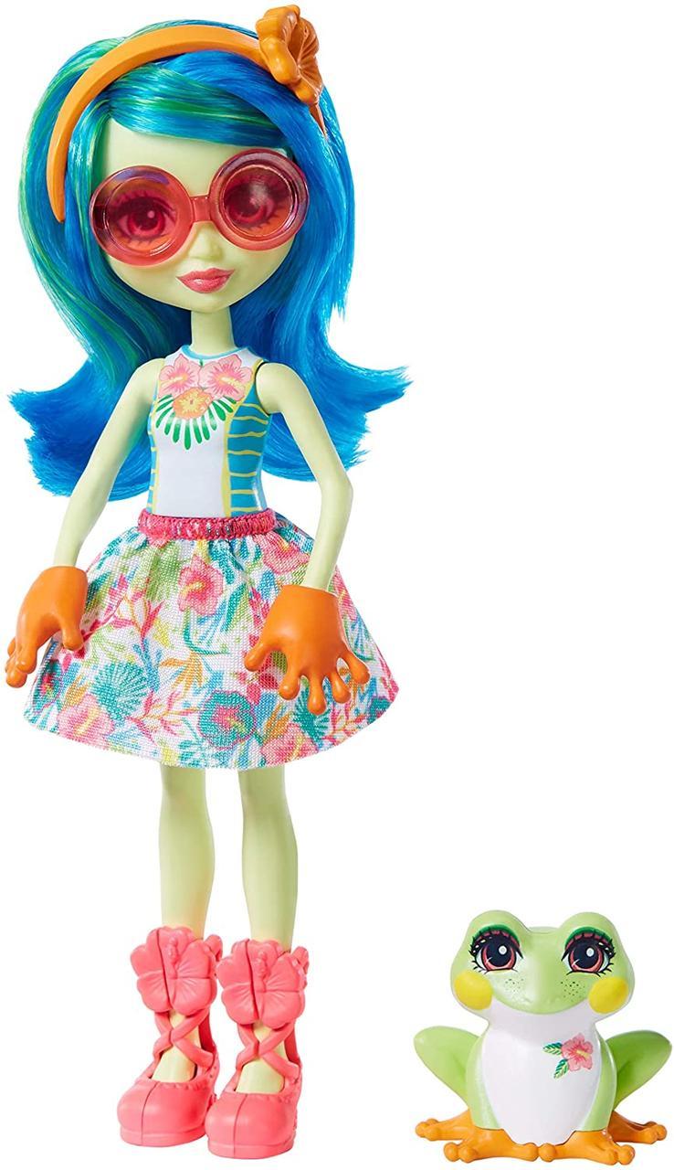 Лялька Enchantimals Жаба Тамика і вихованець Burst GFN43