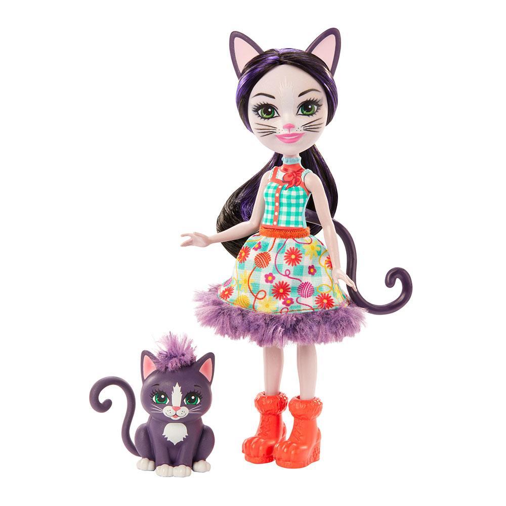 Кукла Enchantimals Кошка Клаймбер и котенок Сиеста GJX40