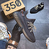 Кроссовки женские Adidas Yeezy Boost 350 v2 Triple Black ., фото 6