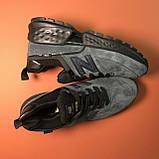Кроссовки New Balance 574 Grey Black, фото 3