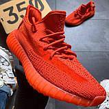 Кроссовки мужские  Adidas Yeezy Boost 350 Red., фото 5