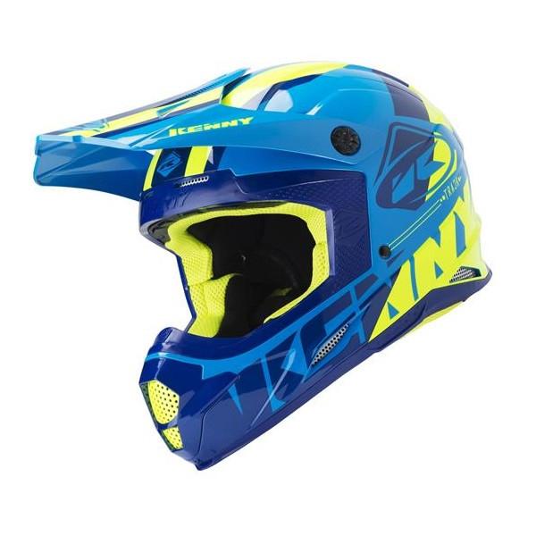 Шлем кроссовый Kenny Track 2019 Blue/Yellow
