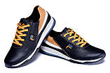 Мужские кожаные кроссовки FILA Black ;, фото 4