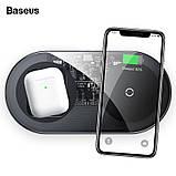 Беспроводное зарядное устройство  Baseus Simple 2in1 18W беспроводная зарядка PowerBank для подзарядки черный, фото 5