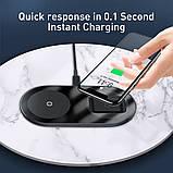 Беспроводное зарядное устройство  Baseus Simple 2in1 18W беспроводная зарядка PowerBank для подзарядки черный, фото 2