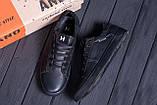 Мужские кожаные кеды TН Black Leather, фото 10