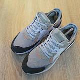 Кроссовки мужские Adidas Nite Jogger белые с тёмно серым, фото 4