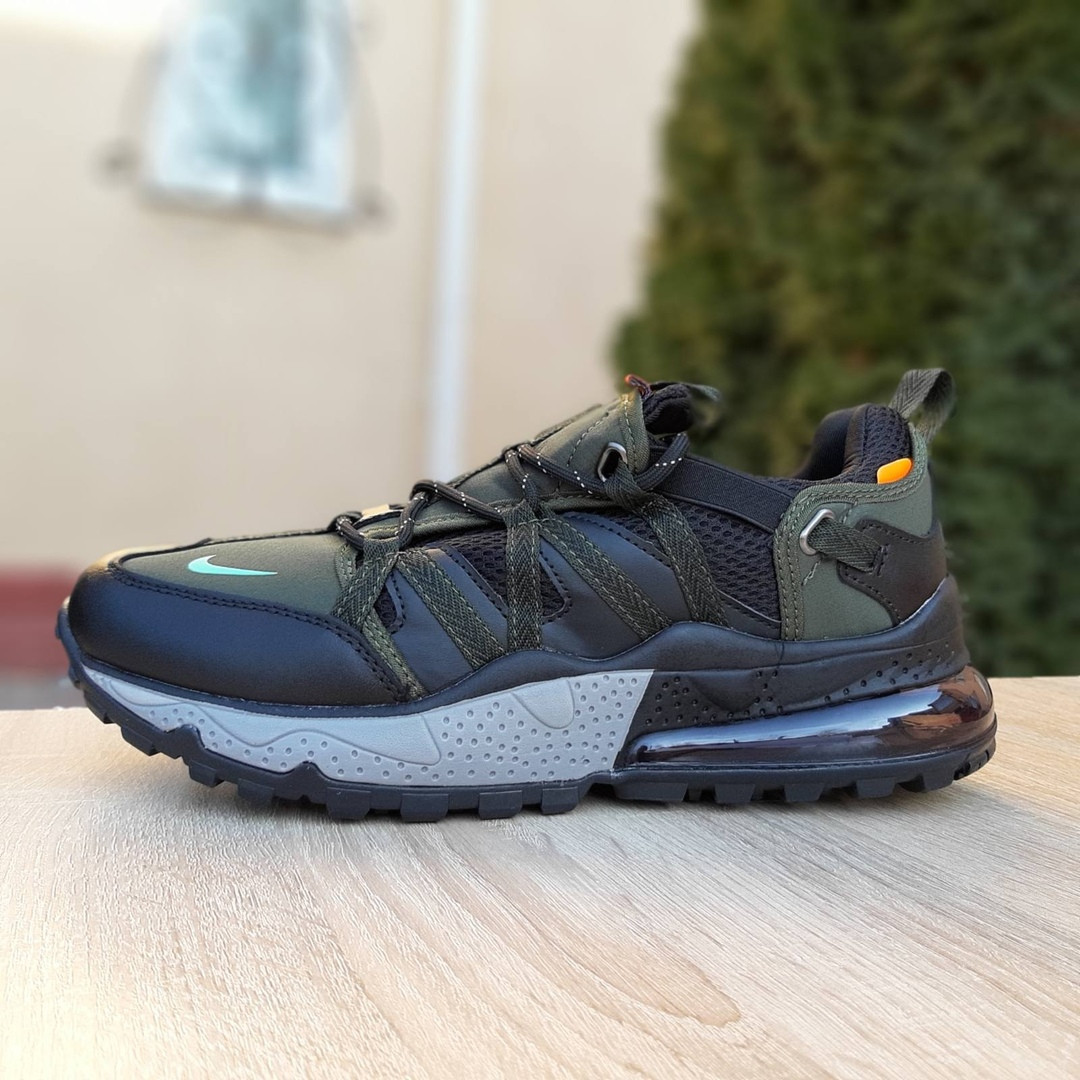 Кроссовки мужские Nike Air Max 720 Bowfin чёрные с зелёным