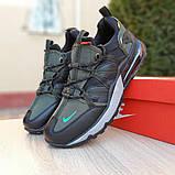 Кроссовки мужские Nike Air Max 720 Bowfin чёрные с зелёным, фото 6