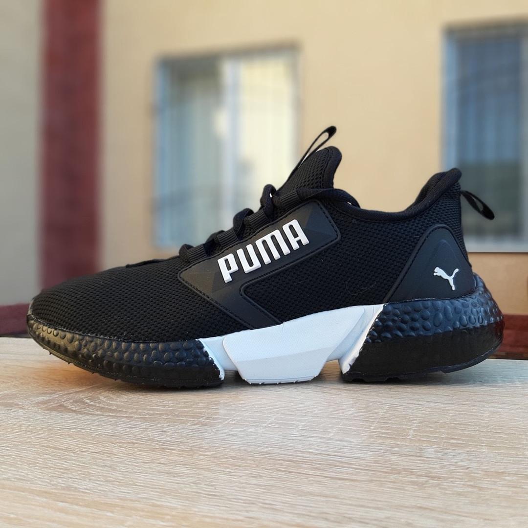 Мужские текстильные  кроссовки Pуma Hybrid Rocket V2 Retaliate чёрные с белым